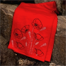 Merino Scarf Poppy Red-clothing-and-accessories-The Vault