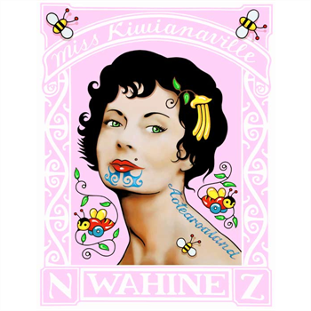 Pink Wahine Stamp – A4 Print
