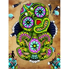 Calavera Tiki A4 Print Lester Hall -house-The Vault