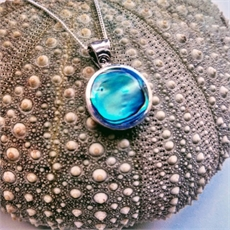 Small Paua Disc Pendant Bale Top-jewellery-The Vault
