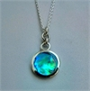 Small Paua Disc Pendant Rings Top-jewellery-The Vault