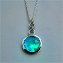 Small Paua Disc Pendant Rings Top