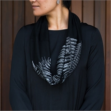 Merino Scarf Infinity Ponga Black-clothing-and-accessories-The Vault