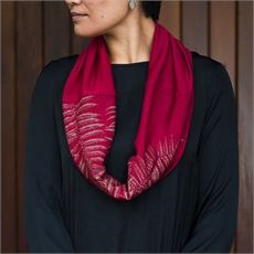 Merino Scarf Infinity Ponga Berry-clothing-and-accessories-The Vault