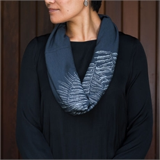 Merino Scarf Infinity Ponga Lead-clothing-and-accessories-The Vault