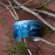 Alum Cuff Forest Azure-jewellery-The Vault