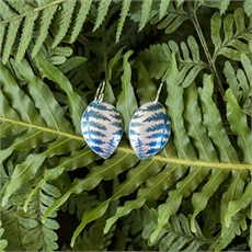 Aluminium Ponga Earrings Azure-jill-main-The Vault