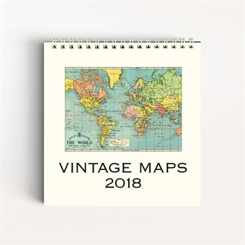 Vintage maps desk calendar 2018 osnz vintage maps desk calendar 2018 gumiabroncs Gallery