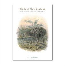 Birds of NZ Calendar 2018-office-The Vault
