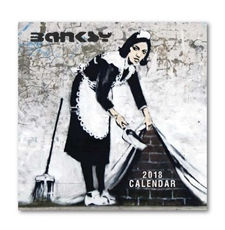 Banksy 30cm Calendar 2018-office-The Vault