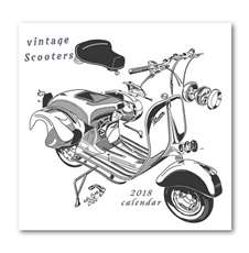 Vintage Vespas Calendar 2018-office-The Vault