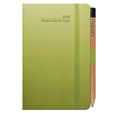Tucson Ivory Pky Wkly Diary Bright Green-under-$50-The Vault