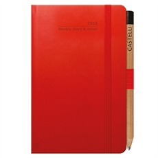 Tucson Ivory Pkt Wkly Red Diary-under-$50-The Vault