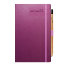 Tucson Ivory Med Wkly Diary Purple-under-$50-The Vault