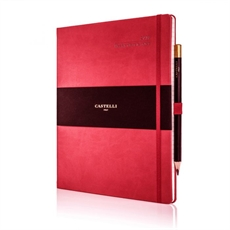 Tucson Ivory Lrg Wkly Diary Coral Red-under-$50-The Vault