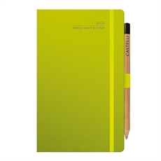 Tucson Ivory Med Wkly Diary Neon Green-under-$50-The Vault
