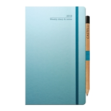 Tucson Ivory Med Wkly Blue Cu Diary-under-$50-The Vault