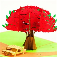 Pohutukawa Tree Creative Pop Up Card-gift-cards-and-tags-The Vault