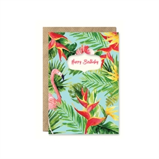 Happy Birthday Birds of Paradise Card-cards-The Vault