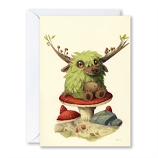 The Mushroom Sitter Greeting Card-gift-cards-and-tags-The Vault