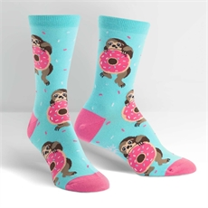 Female Crew Socks Snackin Sloth-for-her-The Vault