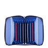 Zip Round Fan Card Holder Royal-for-her-The Vault