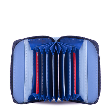 Zip Round Fan Card Holder Royal