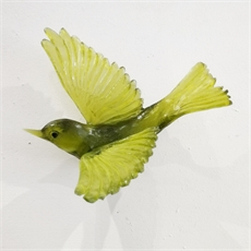 Lukeke Cast Glass Silvereye Olive-native-birds-and-nature-The Vault