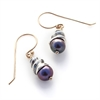 Spiral Shell Pearl e/r Stg w 14k Gd Hook-jewellery-The Vault