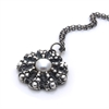 Sand Dollar Silver Necklace with Pearl-jewellery-The Vault