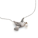 Dove Necklace Stg Silver with Pearl