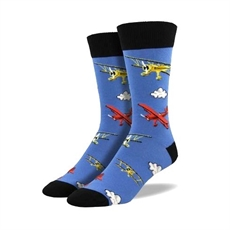 Mens Flying Bi Socks - Blue Fog-man-The Vault