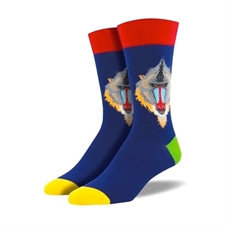 Mens Mind Your Mandrills Socks - Navy-man-The Vault
