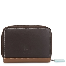 Zip Round Fan Card Holder Mocha-brands-The Vault