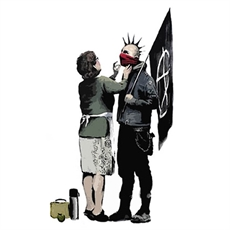 Banksy Print A3 Anarchist & Mother-house-The Vault