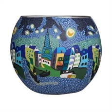 Tealight Holder Med Moonlit Paris-house-The Vault