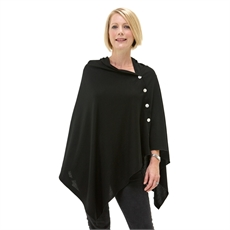 OBR Merino Button Wrap Black-for-her-The Vault