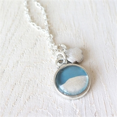 Petite Foil Necklace Teal-jewellery-The Vault