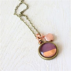 Petite Foil Necklace Plum-jewellery-The Vault