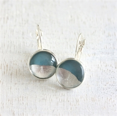 Foil Earrings Teal-jewellery-The Vault