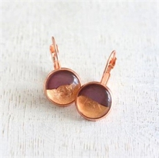 Foil Earrings Plum-jewellery-The Vault