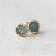 Raw Crystal Studs Ocean-jewellery-The Vault