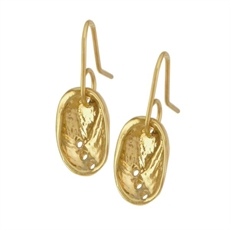 Baby Paua Earrings Gold Plate-jewellery-The Vault
