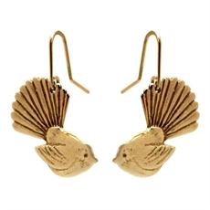 Gold Plated Fantail Small Earrings-jewellery-The Vault