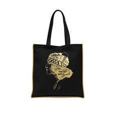 Gold Foil Wahine Tote Bag-kiwiana-The Vault