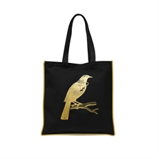 Gold Foil Tui Tote Bag-kiwiana-The Vault