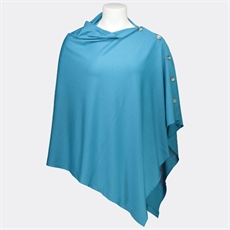 OBR Merino Button Wrap Turquoise-for-her-The Vault