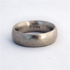 Ring Palladium Rustic Hammered Matt -jewellery-The Vault