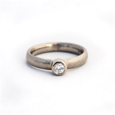Ring Palladium Band 18ctWhGold Diamond-jewellery-The Vault