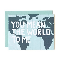 'You Mean The World To Me' Card-cards-The Vault